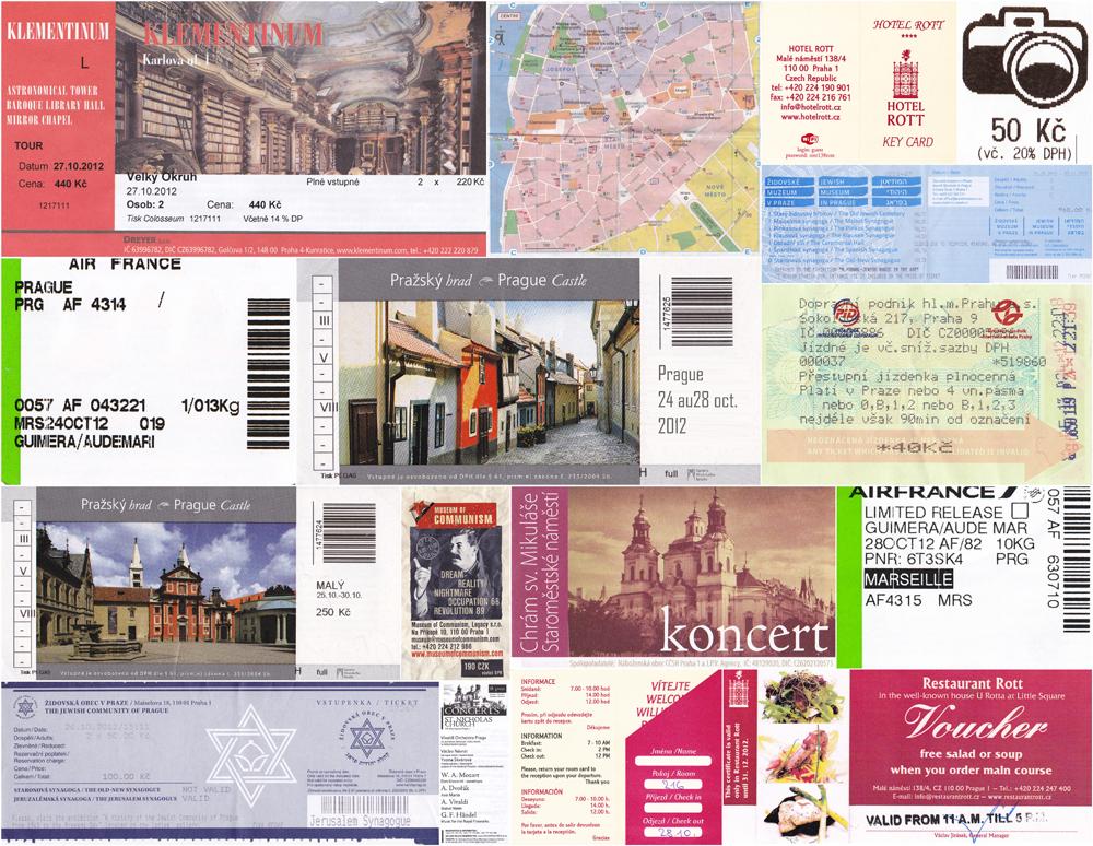 Prague, Tickets des musées et autres monuments