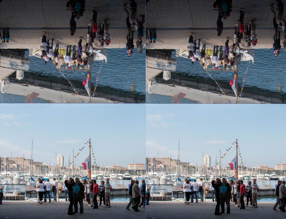 Marseille, Vieux port, reflets