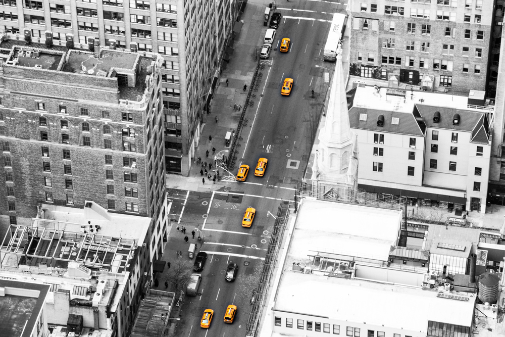 New York, taxis jaunes