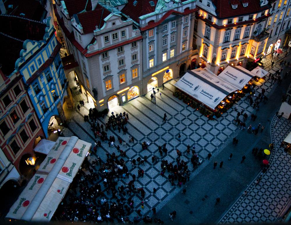 Prague, Vue de l'Hôtel de Ville,
