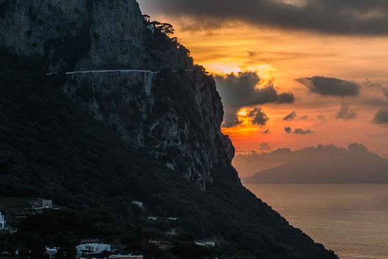 Capri, couché de soleil